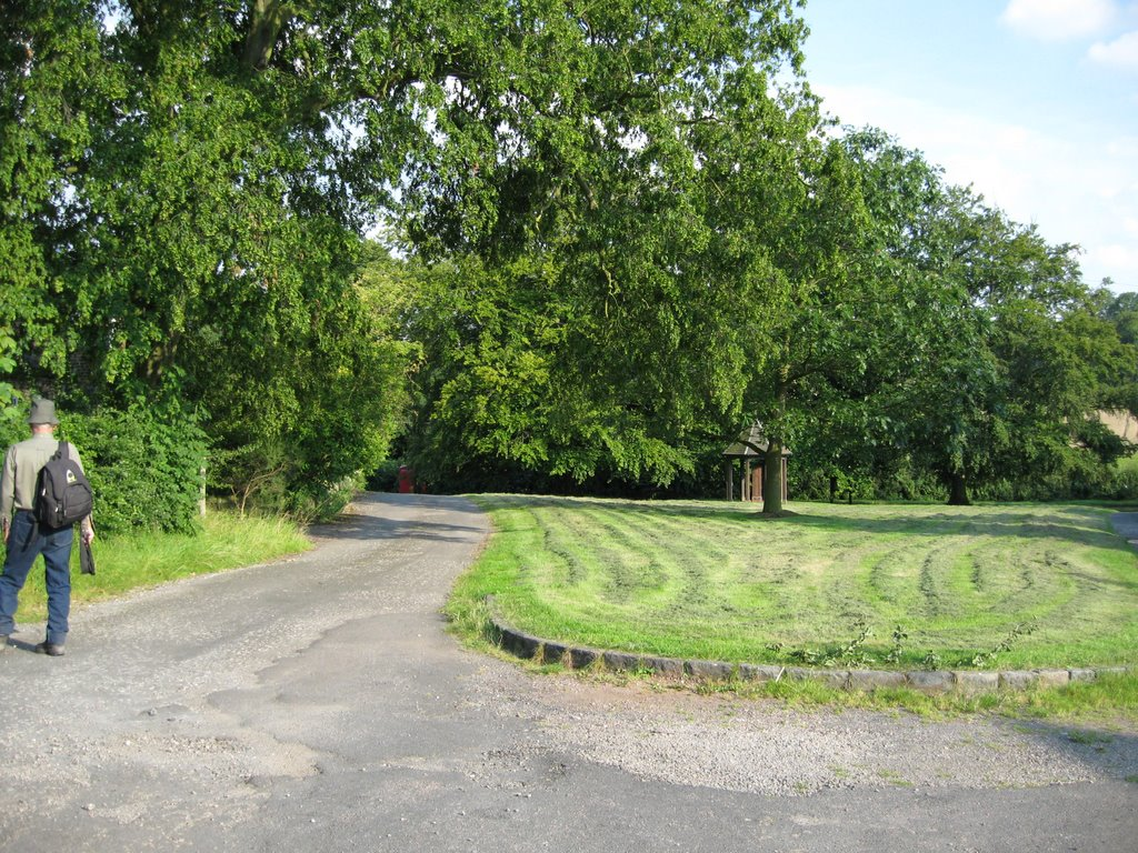 Bretby looking towards the site of the former Bretby Castle