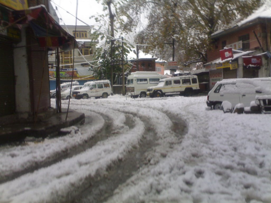 Snowfall in Valley (Court Road)