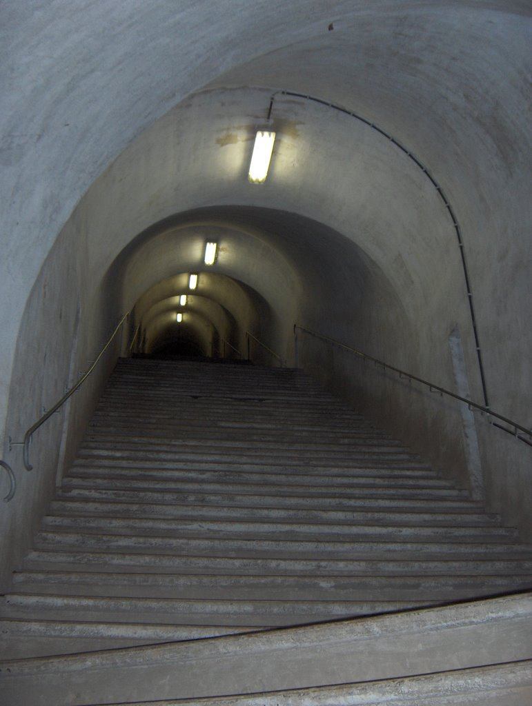 Fort Eben Emael - stairway to hell