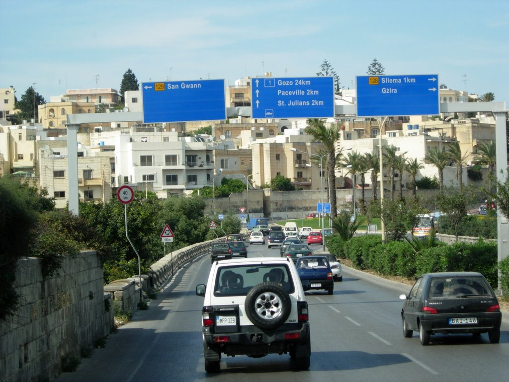 On the way to St. Julians bay