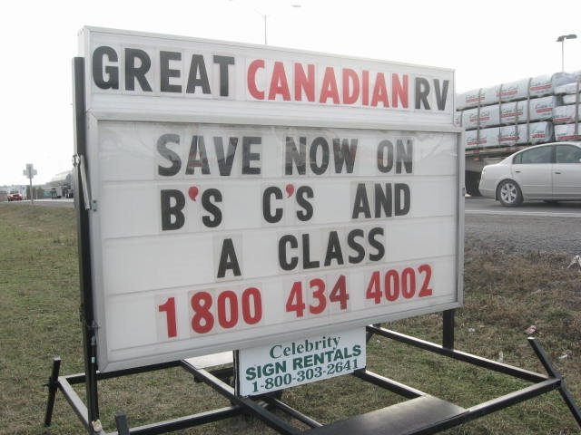 Great Canadian Rv >> Great Canadian Rv Napanee Our Sign On Highway 41 Mapio Net