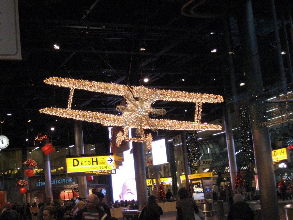 Schiphol airport at christmas time