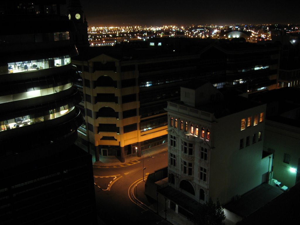 Cape Town at night (frome the Town House Hotel)