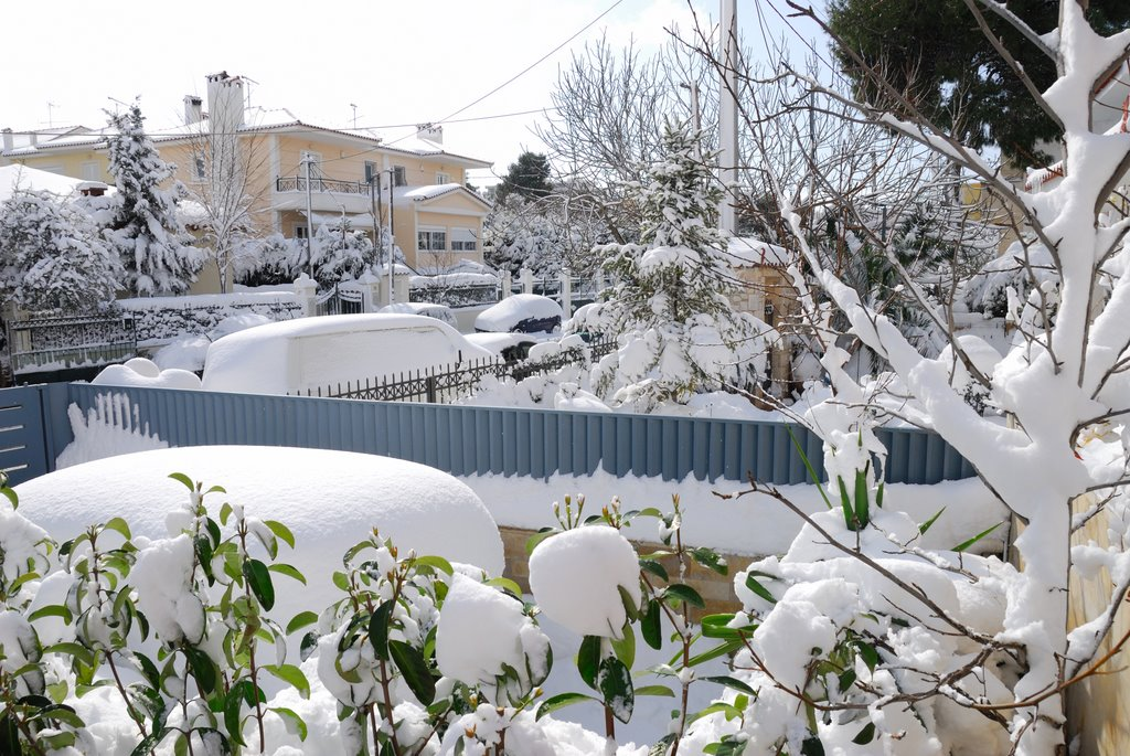 Snow in Athens!