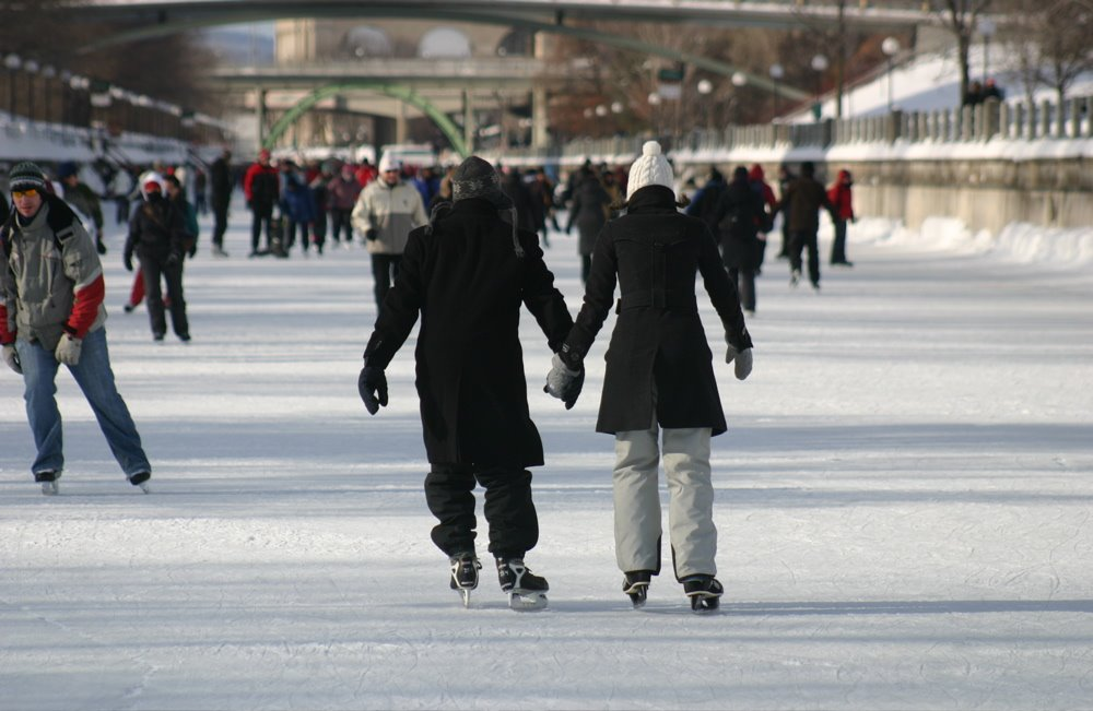 Skaters on the Rideau Canal