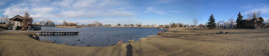 Panorama of Webster Lake, Denver, CO 80027 - Photo by T.S.Bilhanan