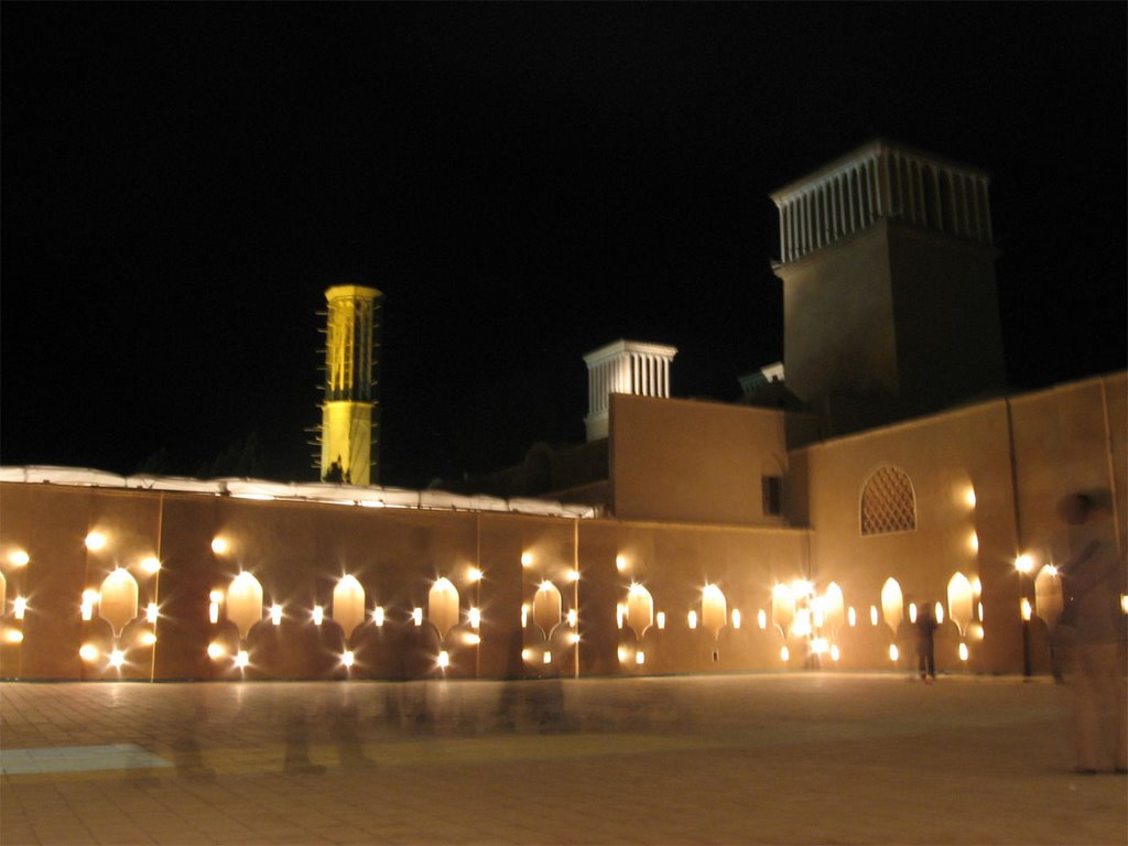 Dowlat abad house in night