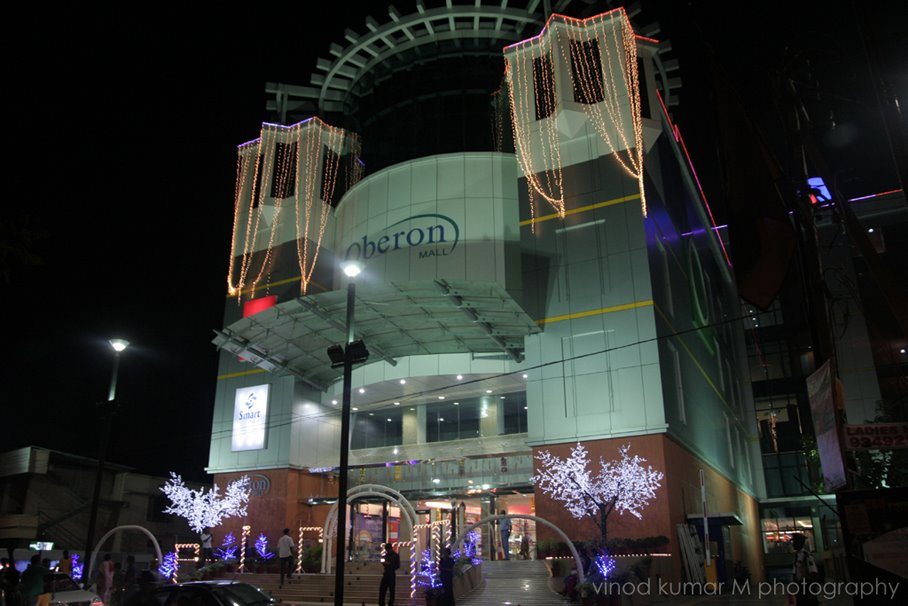 night view of Oberon Mall
