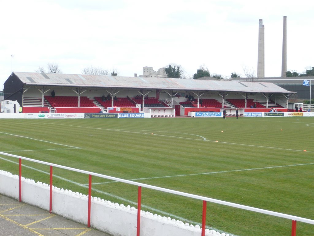 Stonebridge Road Stadium - home of Ebbsfleet United Football Club.