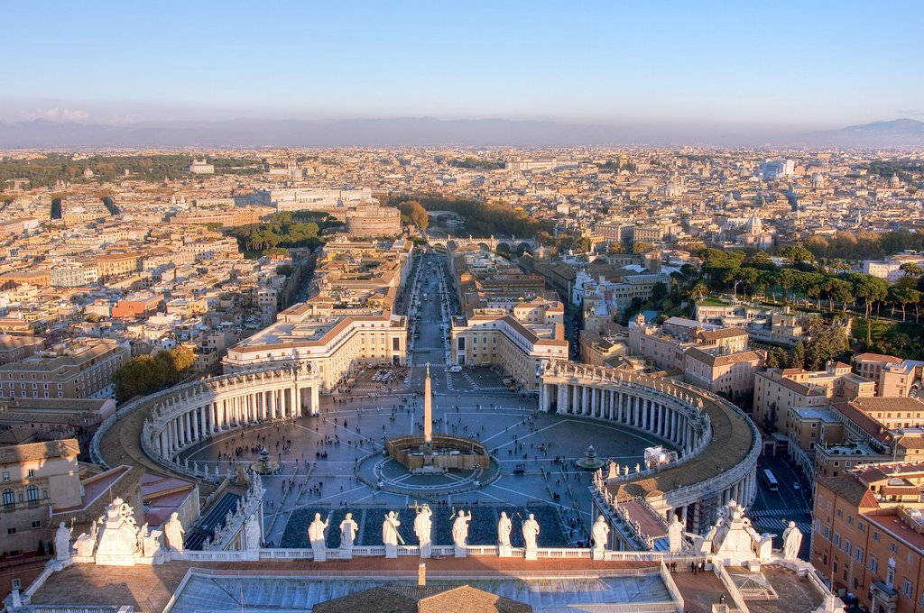 Rome and St Peter's Square, view from St Peter's Cathedral / Vatican