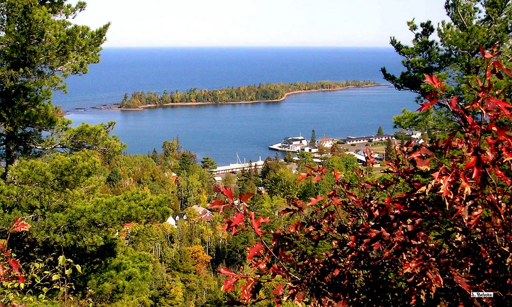 Porter's Island and Copper Harbor from overlook