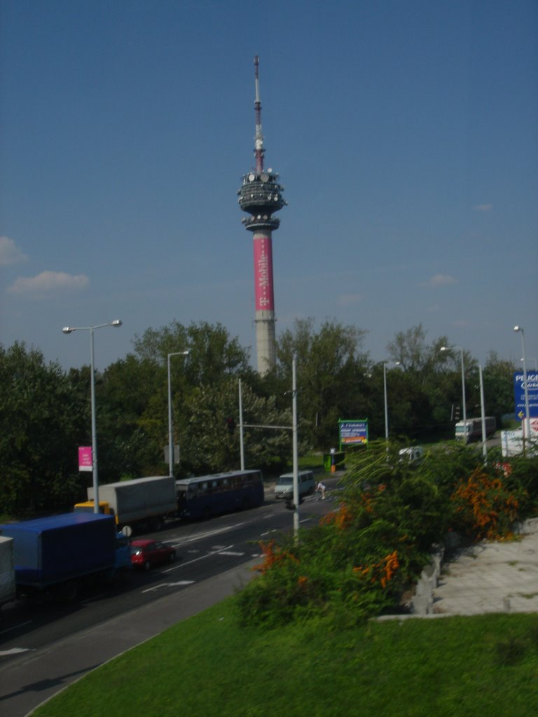 T-Moble tower from airport road
