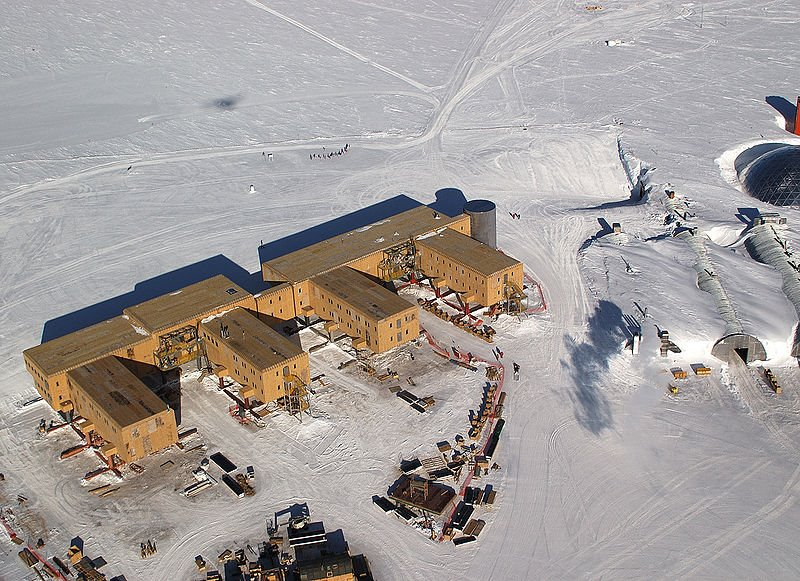 South Pole Base from the air