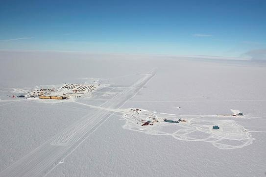 South pole from the air