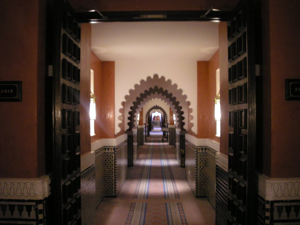 Aisle of the Palmeraie Hotel