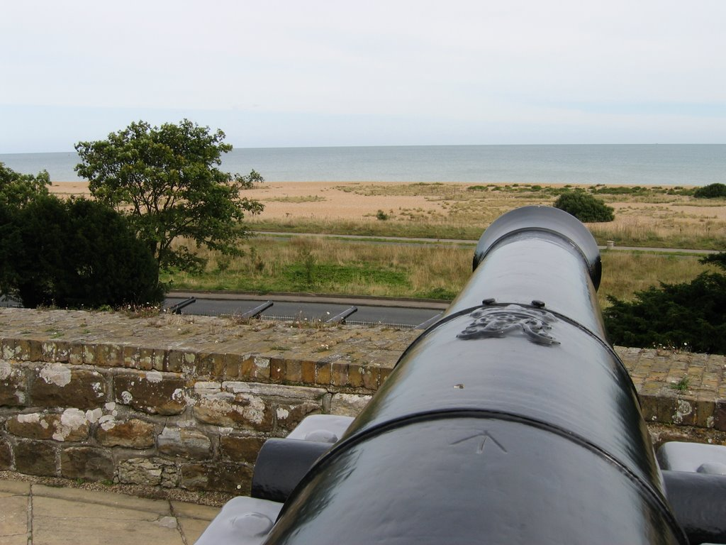 Gunner's view from Walmer Castle