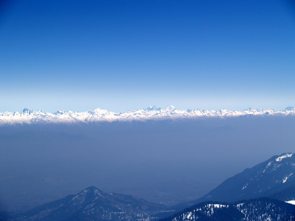 Kashmir Valley from Gulmarg