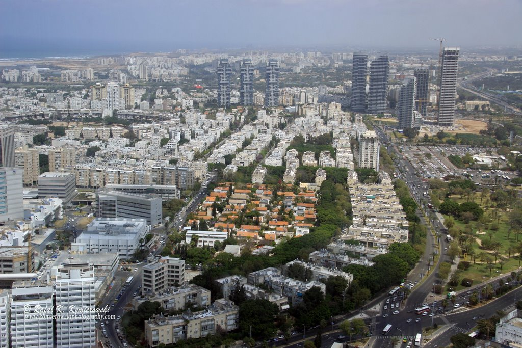 View of Tel Aviv from Observatory Deck at Azrieli Tower
