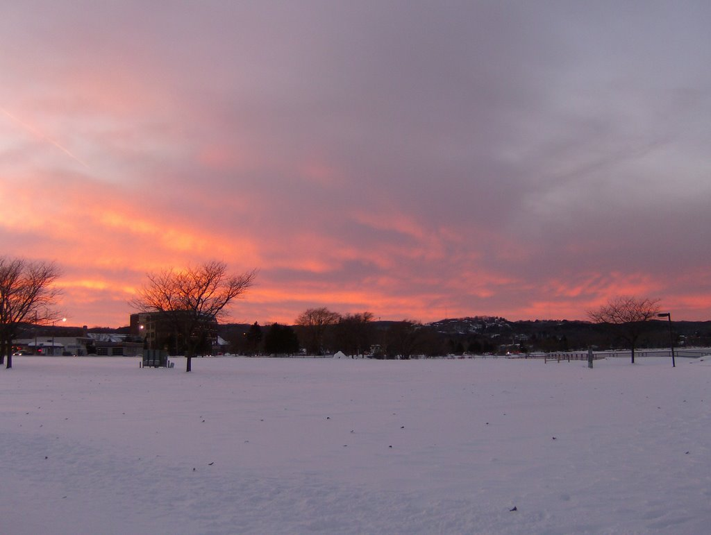 Fiery Sky at the Open Space