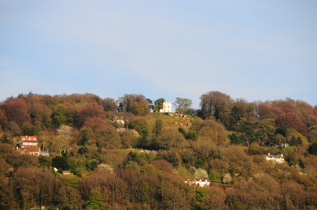 The Kymin looking up from Monmouth