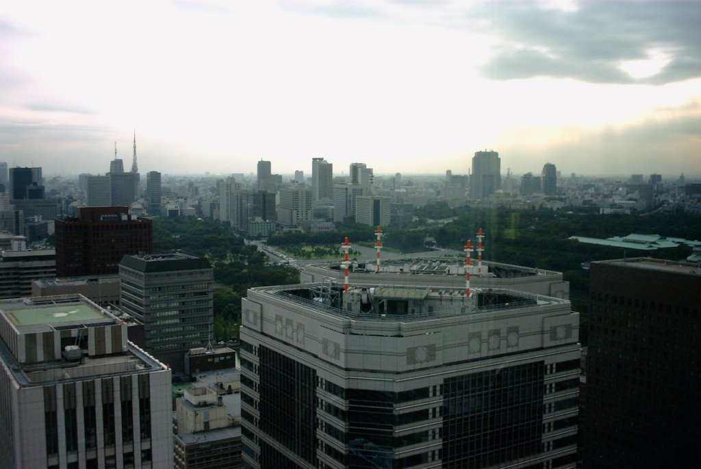 Otemachi First Square Bldg. and Government Buildings and Tokyo Tower in the back