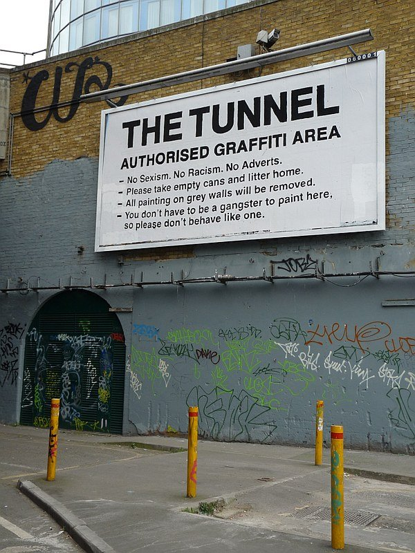 The Tunnel: Authorized Graffiti Area