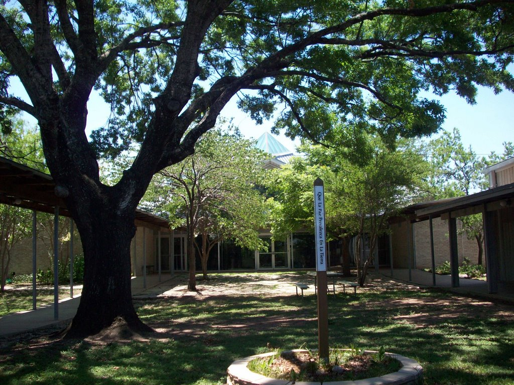 First UU sanctuary viewed from patio