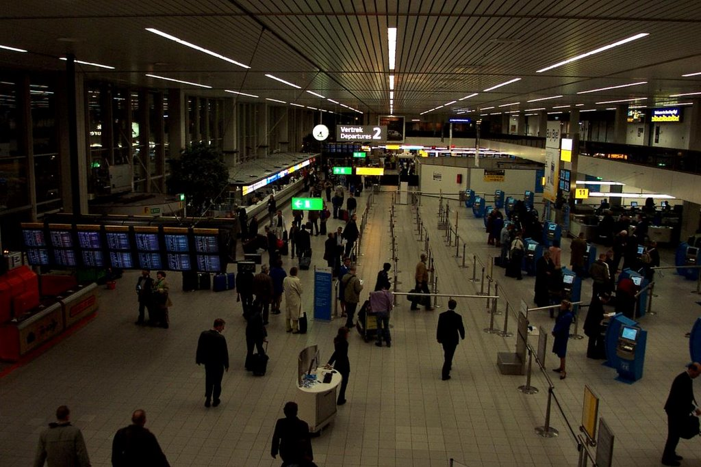 Schiphol Departures by Night