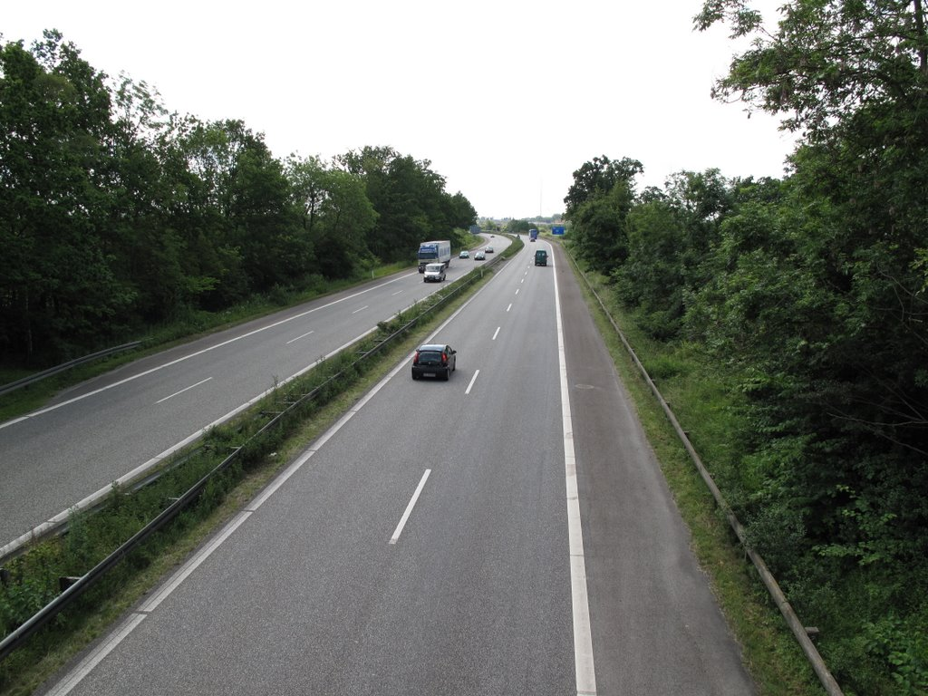 Fynmotorvejen i Nyborg / The Funen highway seen from Nyborg