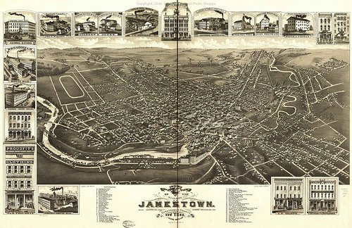 Old Map of Jamestown
