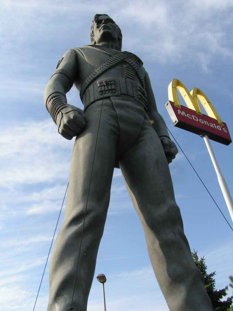 Michael Jackson statue situated in Best (NL)