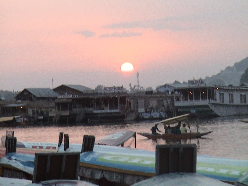 House Boats and a Sunset