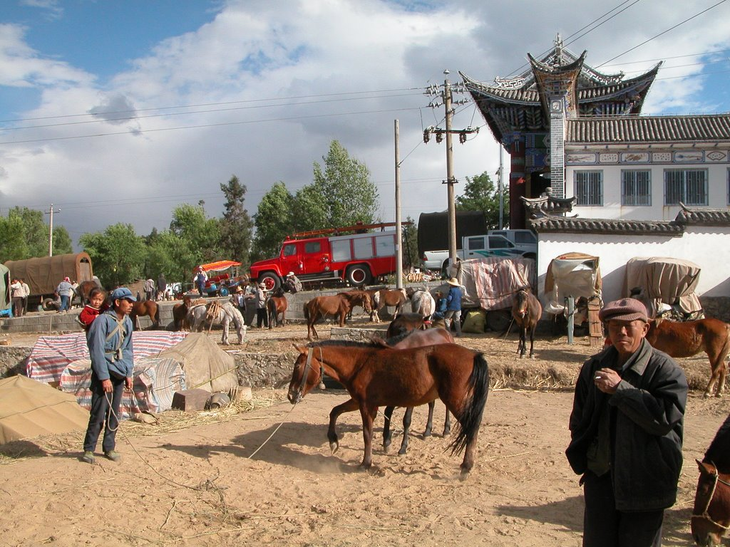 Horse market, in north end of Dali