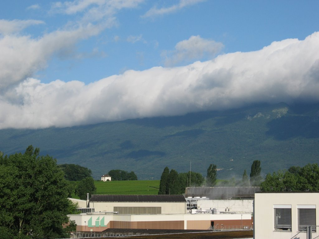 Clouds Rolling over the Jura Mountains