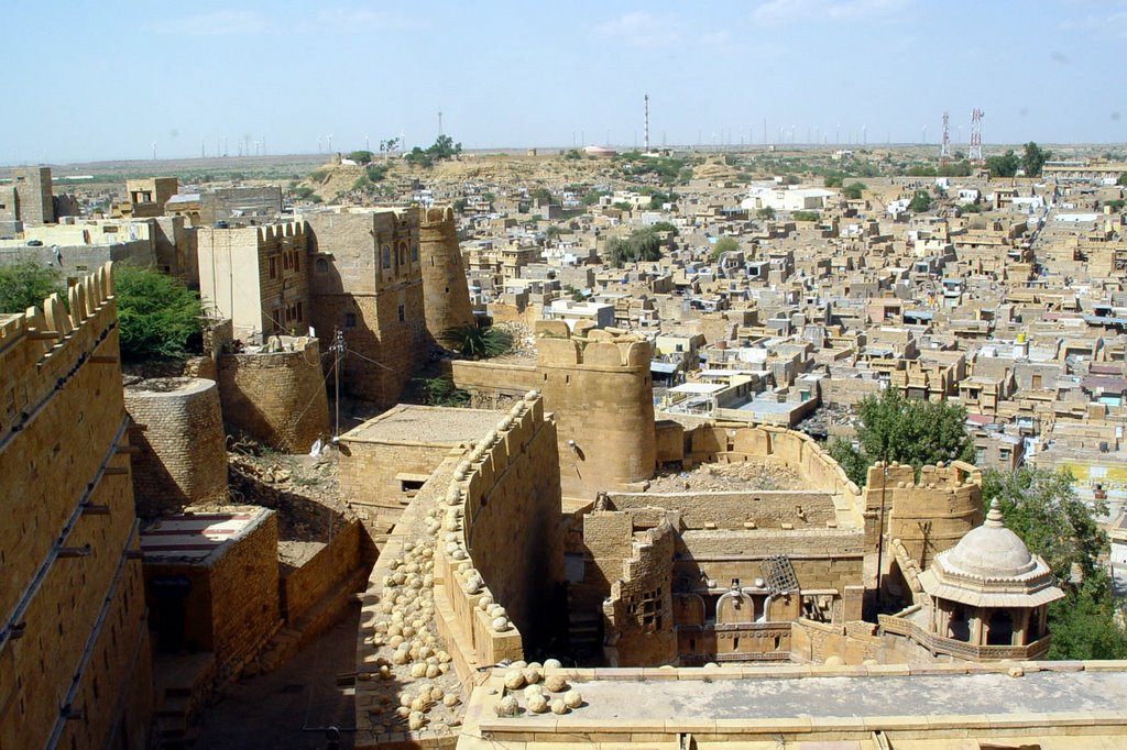 jaisalmer, view from palace on the city