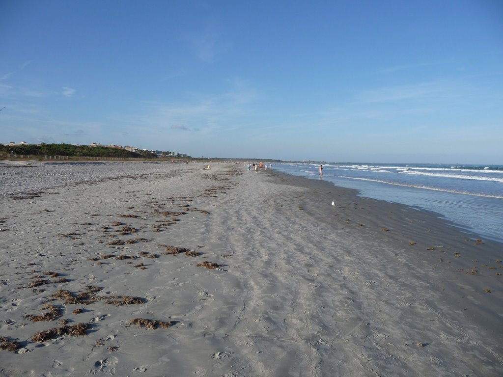 Cape Canaveral Beach Looking North