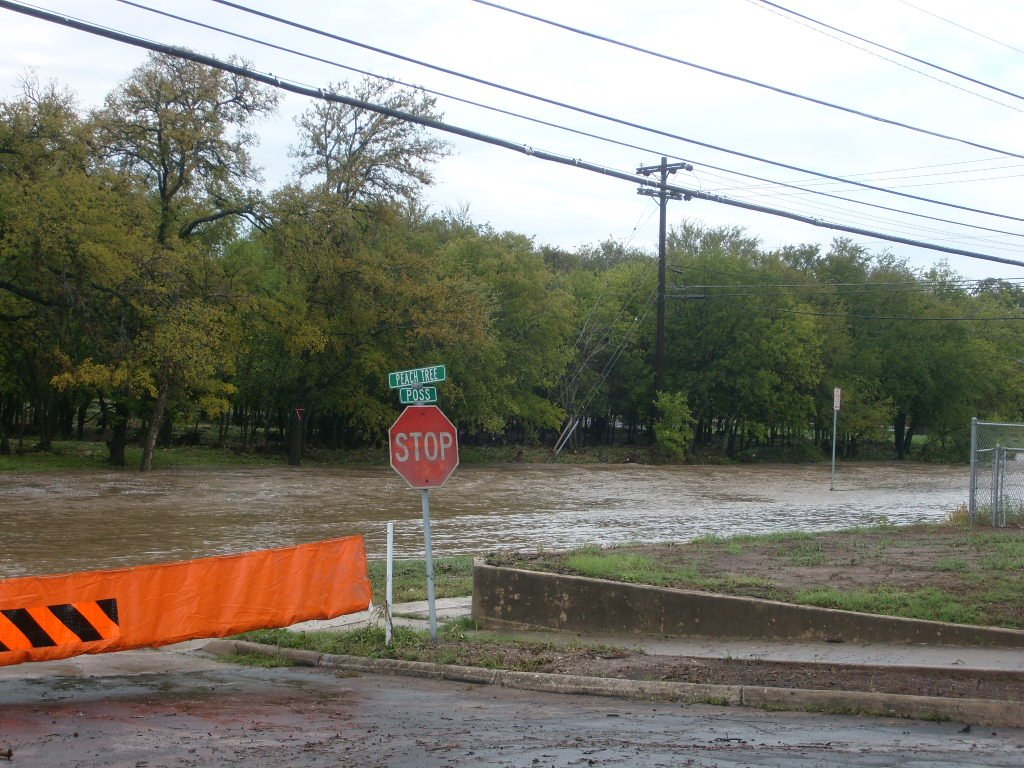 Peach Tree and Poss Flood in Leon Valley, TX