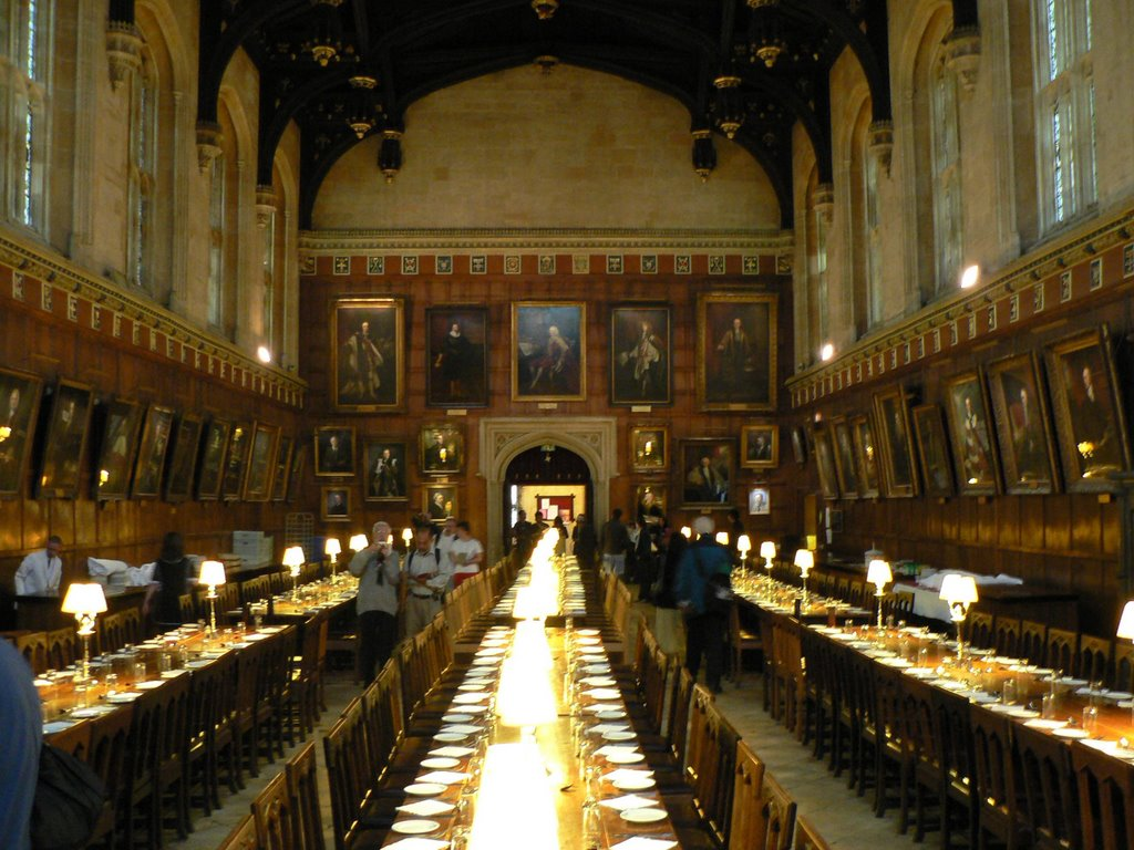 Oxford Christ Church College Dining Hall From Harry Potter