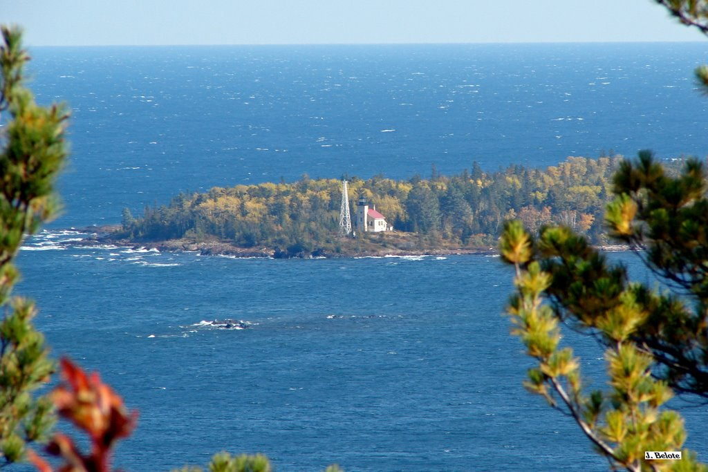 Copper Harbor Lighthouse from Brockway Nose