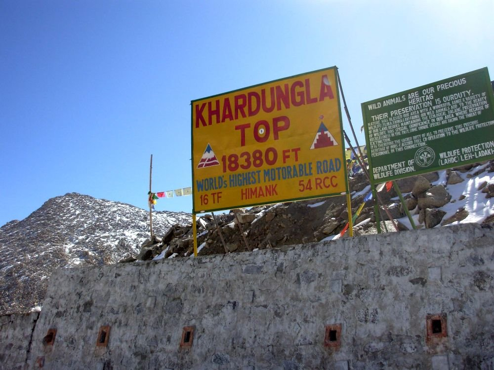 KhardungLa (18380ft) - Highest Motorable Road in the World (Photo : Mita Ghosh)