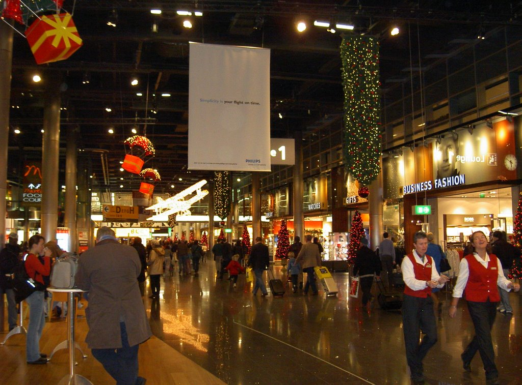 Amsterdam Airport Schiphol during Christmas