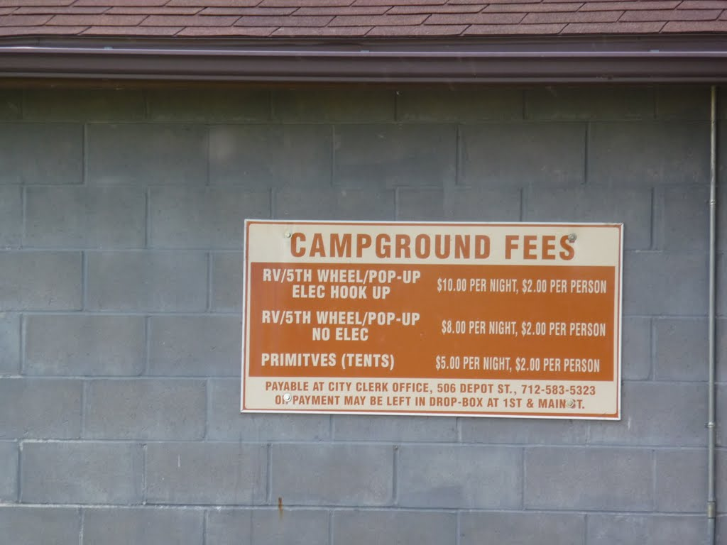Coin Campground Fees