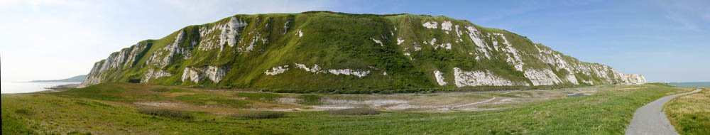 White Cliffs of Dover, Panorama, Dover, England