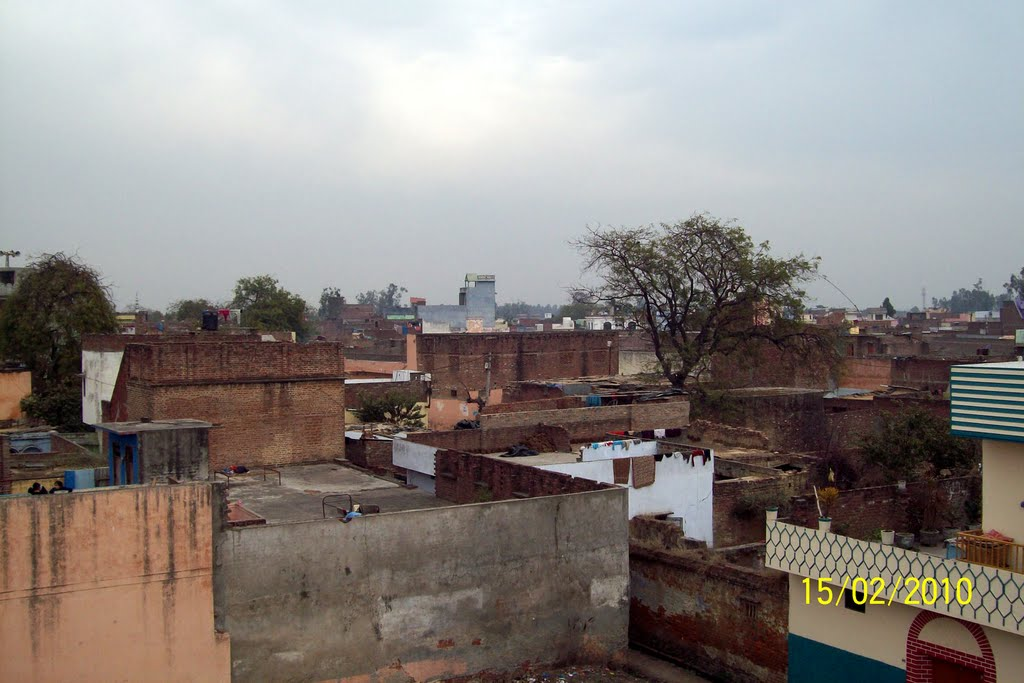 Dhampur skyline on a cloudy morning