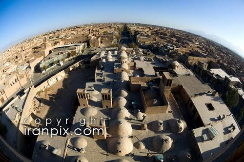 Overview of Yazd, Iran