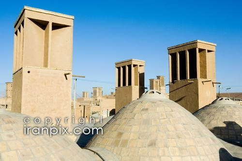 Wind Towers (Badgirs), Yazd, Iran