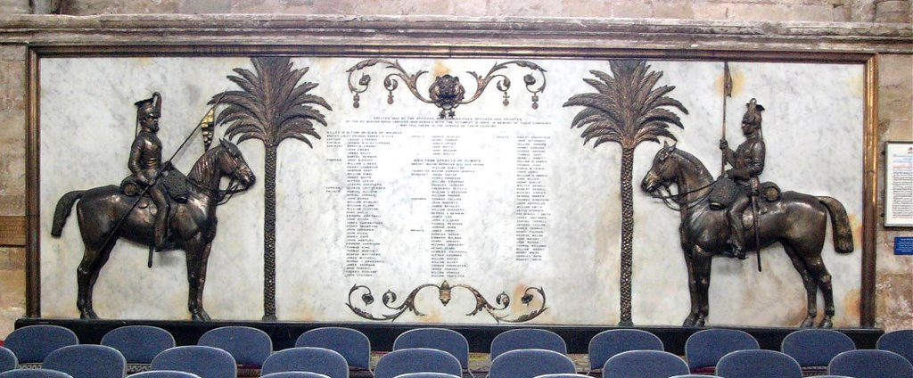 Exeter Cathedral, 9th Lancers  Memorial,