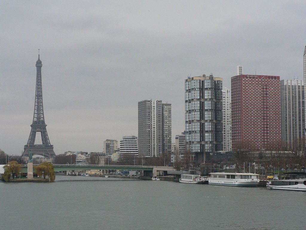 eiffel tower from far bridge