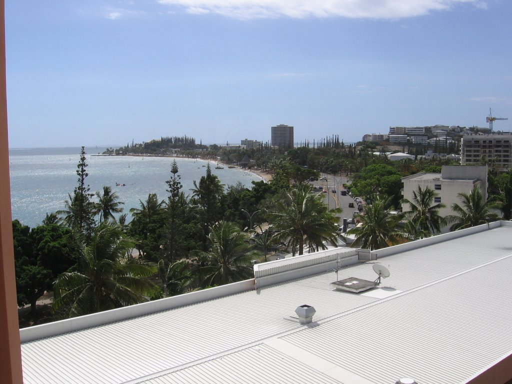 View west from le Pacifique Hotel