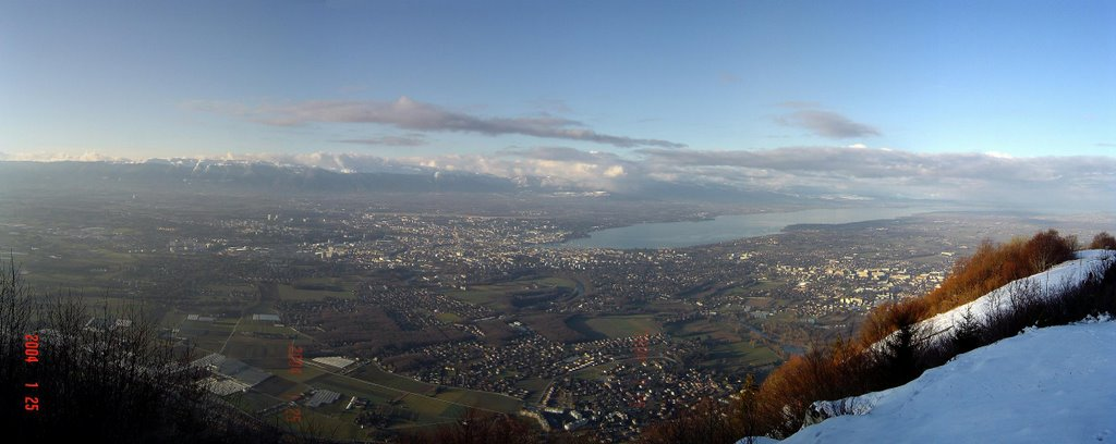 Geneva from Saleve in winther